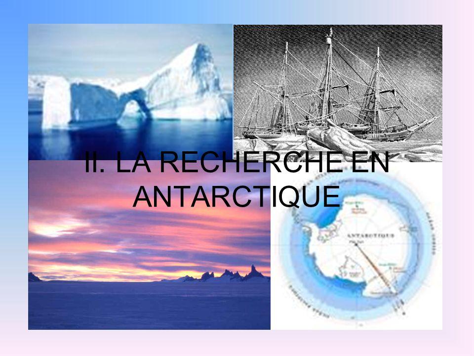 Présentation de la recherche choisie: Nous avons choisi la recherche effectuée par Sylvie Becquevort, professeur et chercheur à lUniversité Libre de Bruxelles, membre de trois expéditions en Antarctique.