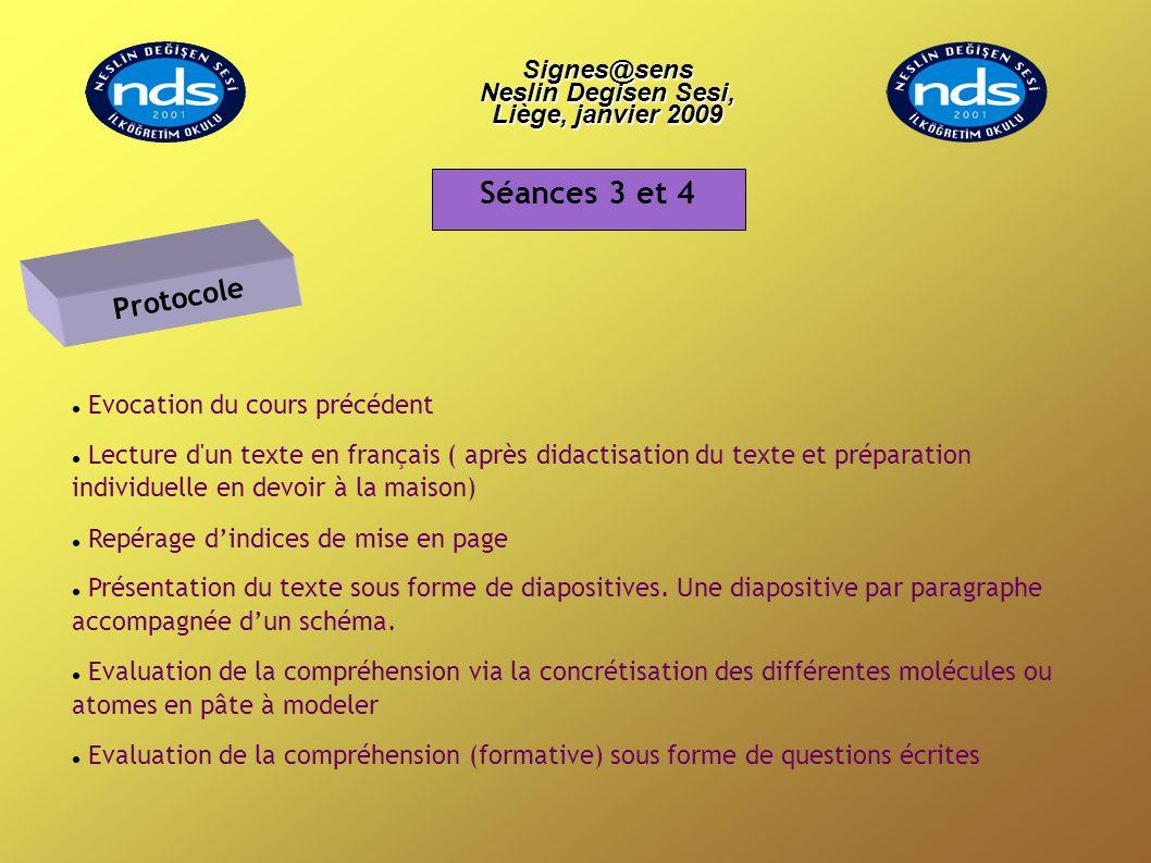 Evocation du cours précédent Lecture d'un texte en français ( après didactisation du texte et préparation individuelle en devoir à la maison) Repérage