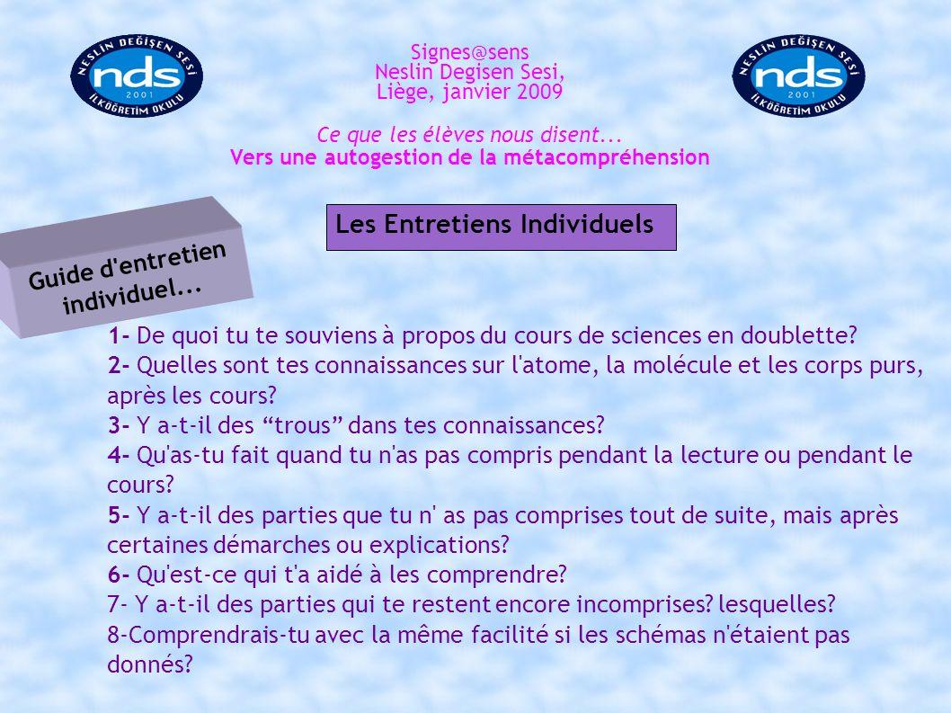Les Entretiens Individuels Guide d entretien individuel...