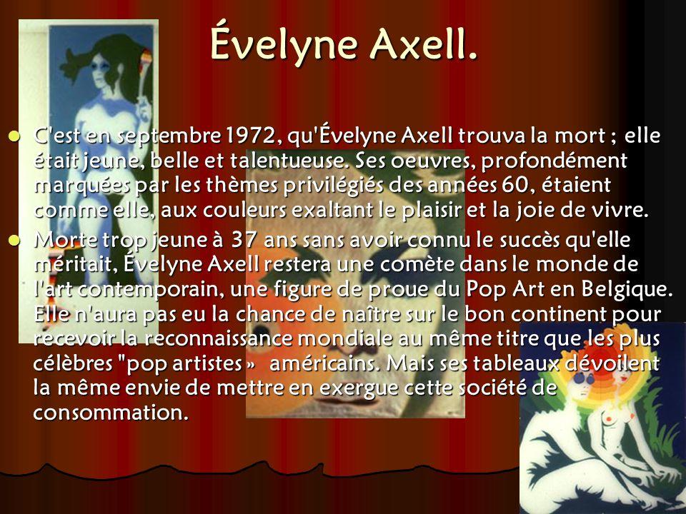 Évelyne Axell.