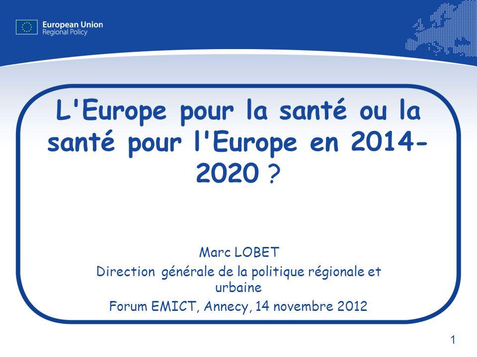 2 UE - 27 pays, 2008 Espérance de vie en Europe Espérance de vie en bonne santé Hommes76.460.9 Femmes82.462