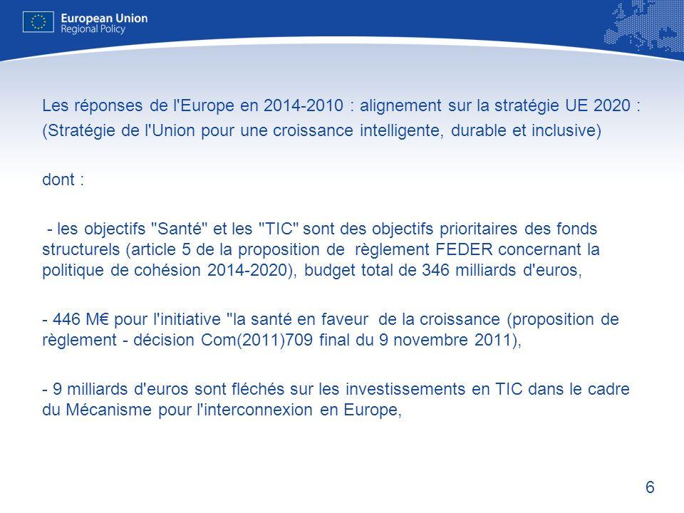 7 Le programme « La santé en faveur de la croissance » (2014-2020) est le troisième programme dactions pluriannuel de lUnion européenne (COM(2011)709 Final, 9 novembre 2011).