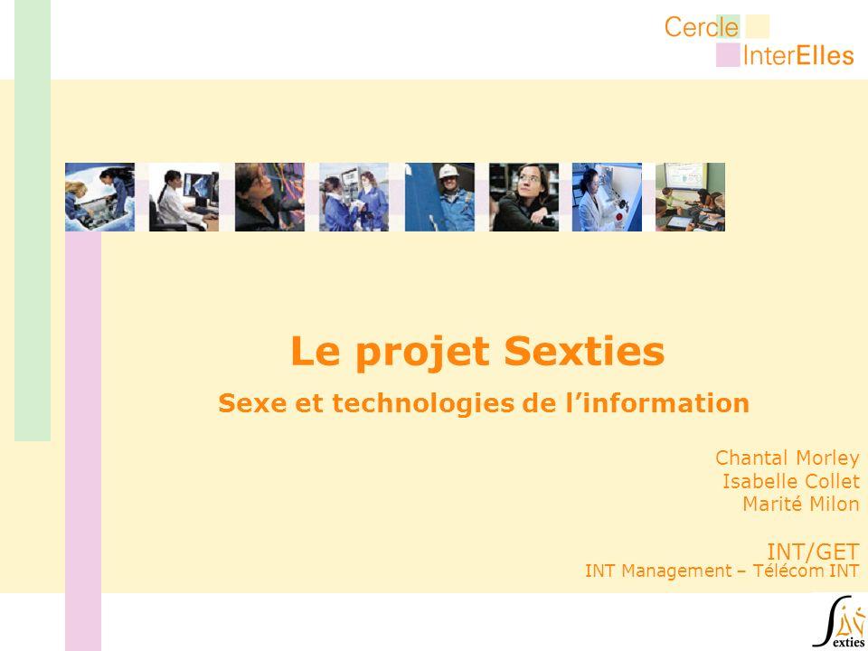 Le projet Sexties Sexe et technologies de linformation Chantal Morley Isabelle Collet Marité Milon INT/GET INT Management – Télécom INT