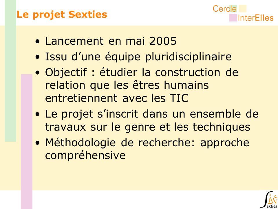 Lancement en mai 2005 Issu dune équipe pluridisciplinaire Objectif : étudier la construction de relation que les êtres humains entretiennent avec les