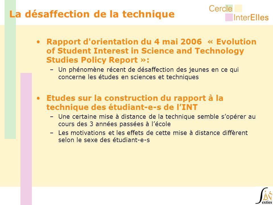 Rapport d'orientation du 4 mai 2006 « Evolution of Student Interest in Science and Technology Studies Policy Report »: –Un phénomène récent de désaffe