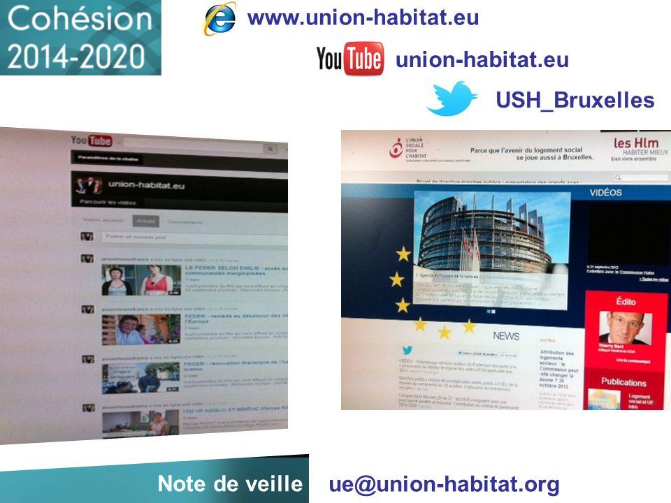 ue@union-habitat.org union-habitat.eu USH_Bruxelles www.union-habitat.eu Note de veille