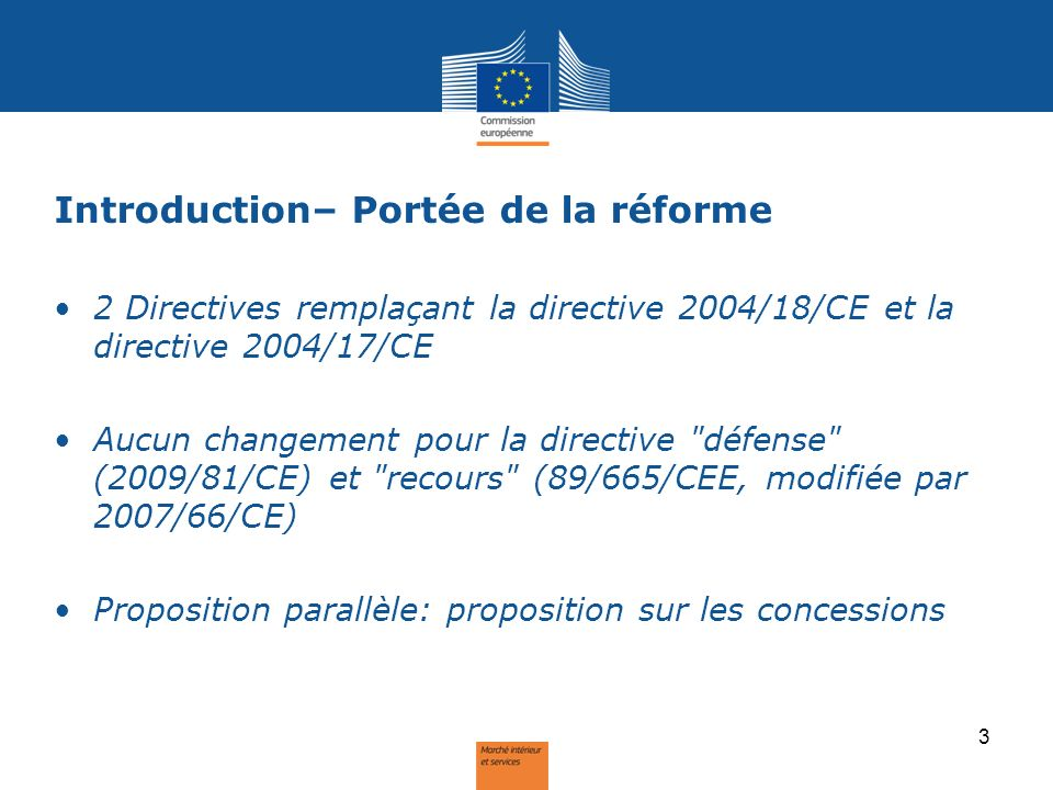 Introduction – Objectifs de la réforme 2.Usage stratégique 4.