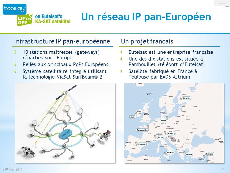 0 146 209 153 191 13 Un réseau IP pan-Européen 10 stations maitresses (gateways) réparties sur lEurope Reliés aux principaux PoPs Européens Système sa