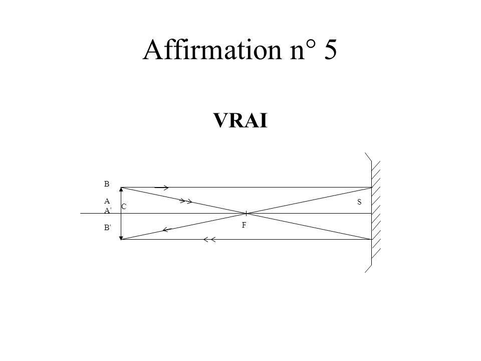 Affirmation n° 5 VRAI B A A' B' S F C