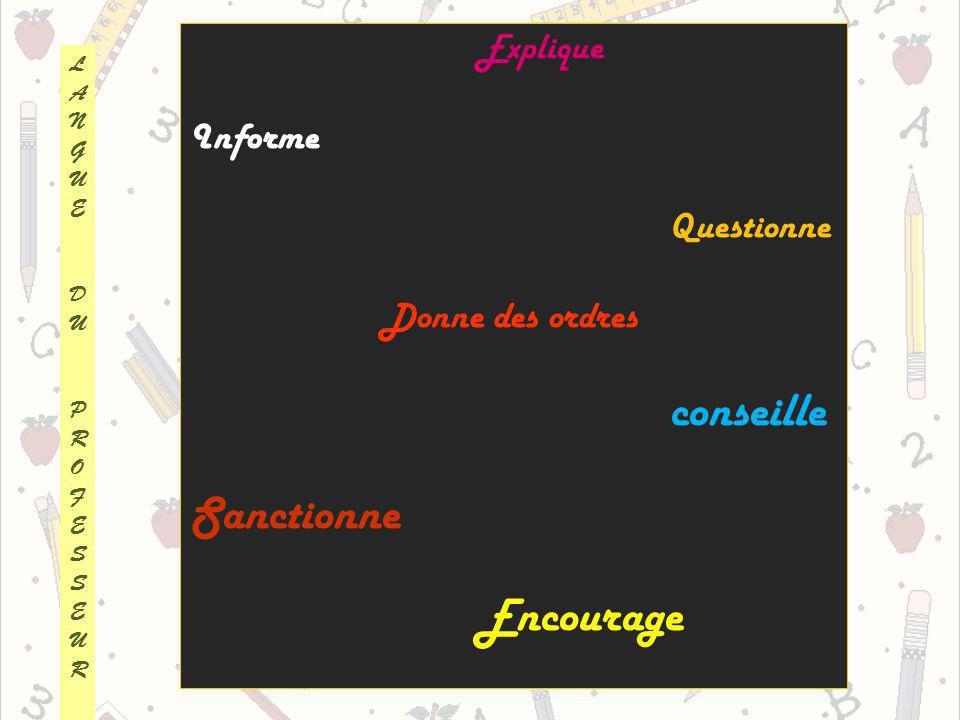 Les grands axes de lapprentissage de la langue La syntaxe Les temps Commentaire de laction : Passée :Moi, jai découpé… Présente :Je saute sur le tapis Futur :Je vais peindre