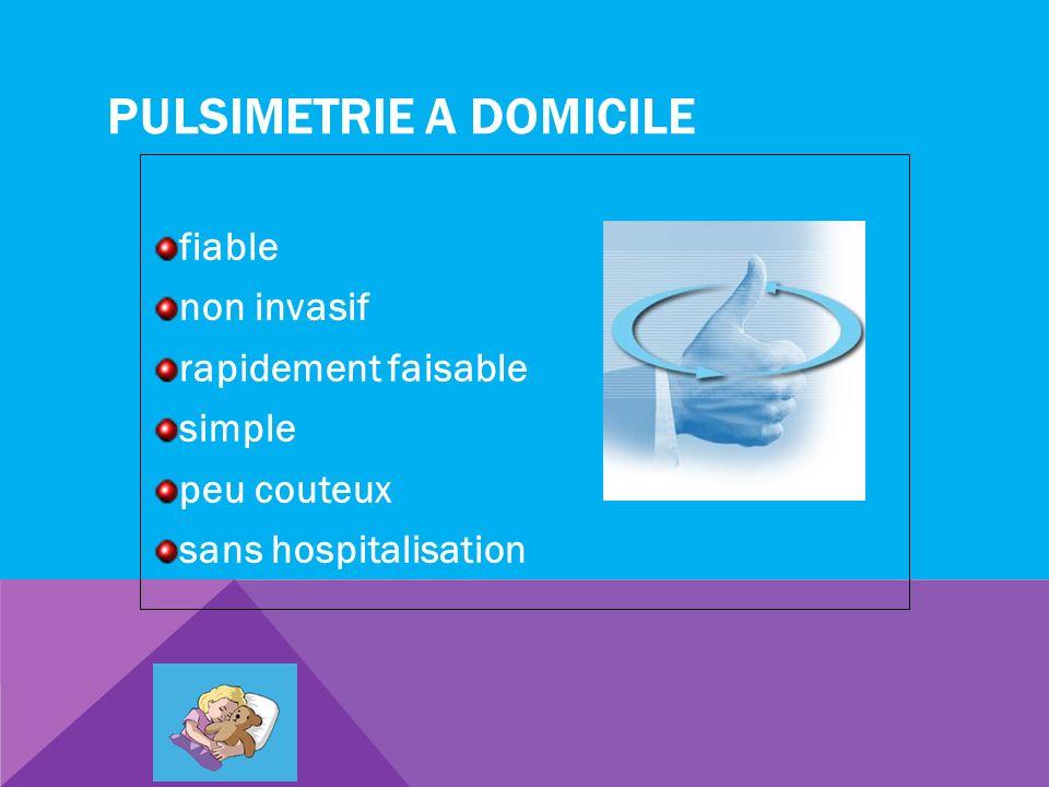 PULSIMETRIE A DOMICILE fiable non invasif rapidement faisable simple peu couteux sans hospitalisation