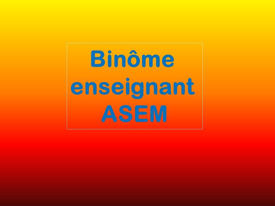 Binôme enseignant ASEM