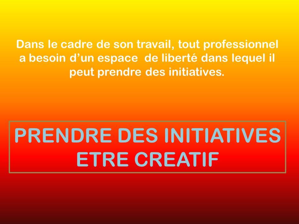 Dans le cadre de son travail, tout professionnel a besoin dun espace de liberté dans lequel il peut prendre des initiatives.