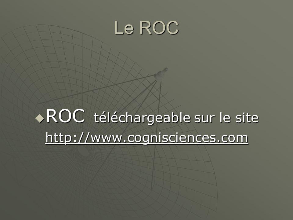 Le ROC ROC téléchargeable sur le site ROC téléchargeable sur le sitehttp://www.cognisciences.com