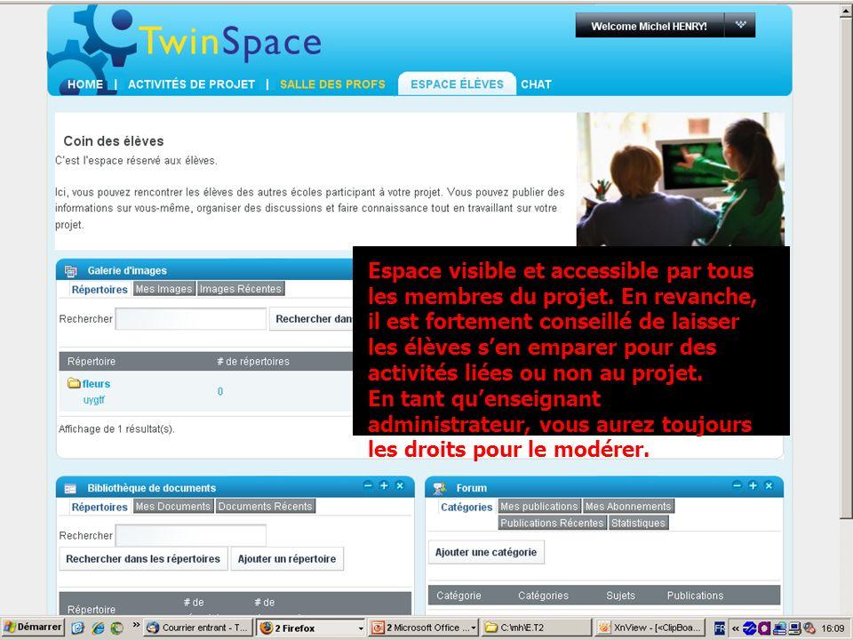 MLF- Florence vendredi 19 février 2010 Espace visible et accessible par tous les membres du projet. En revanche, il est fortement conseillé de laisser