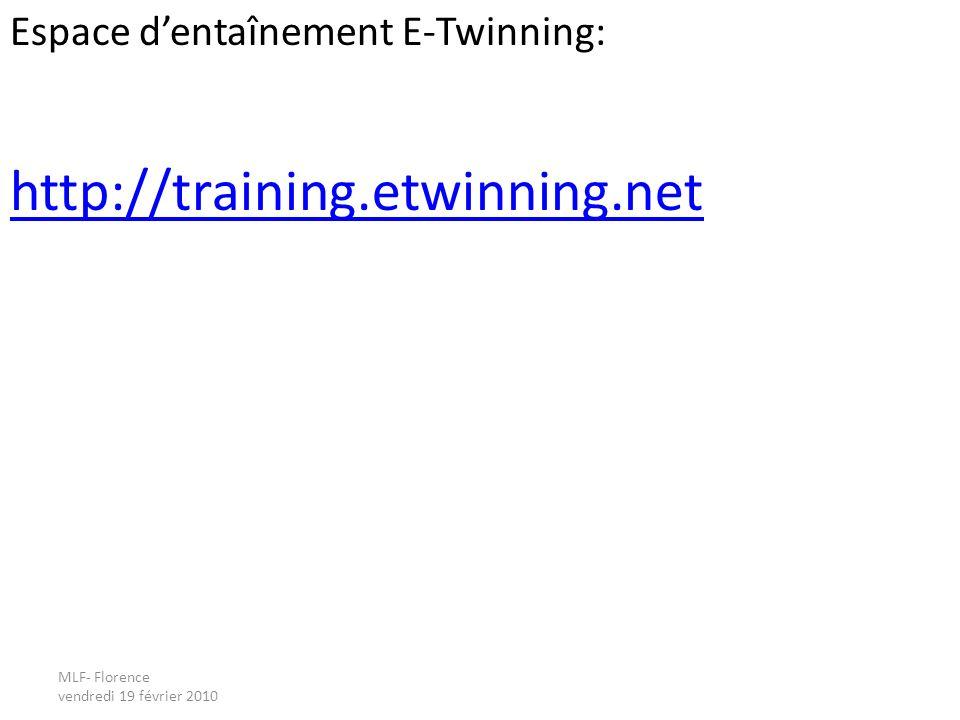 Espace dentaînement E-Twinning: http://training.etwinning.net