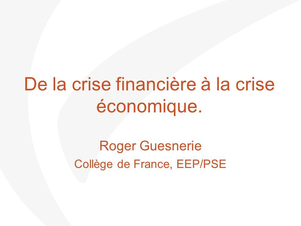 Introduction.…Crisis : un « fait économique total ».