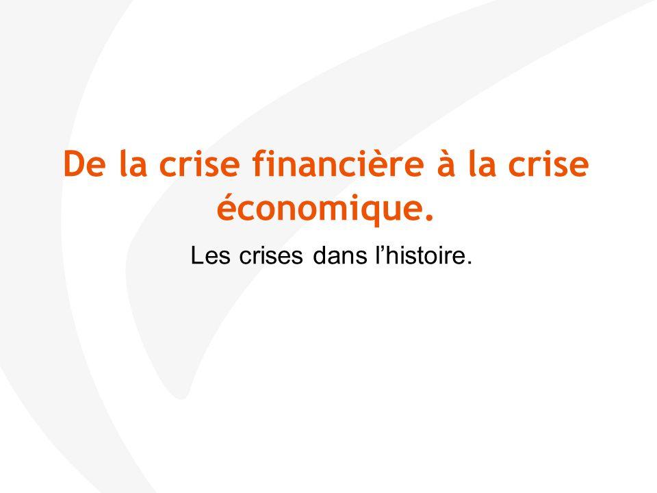 De la crise financière à la crise économique. Le diagnostic ?