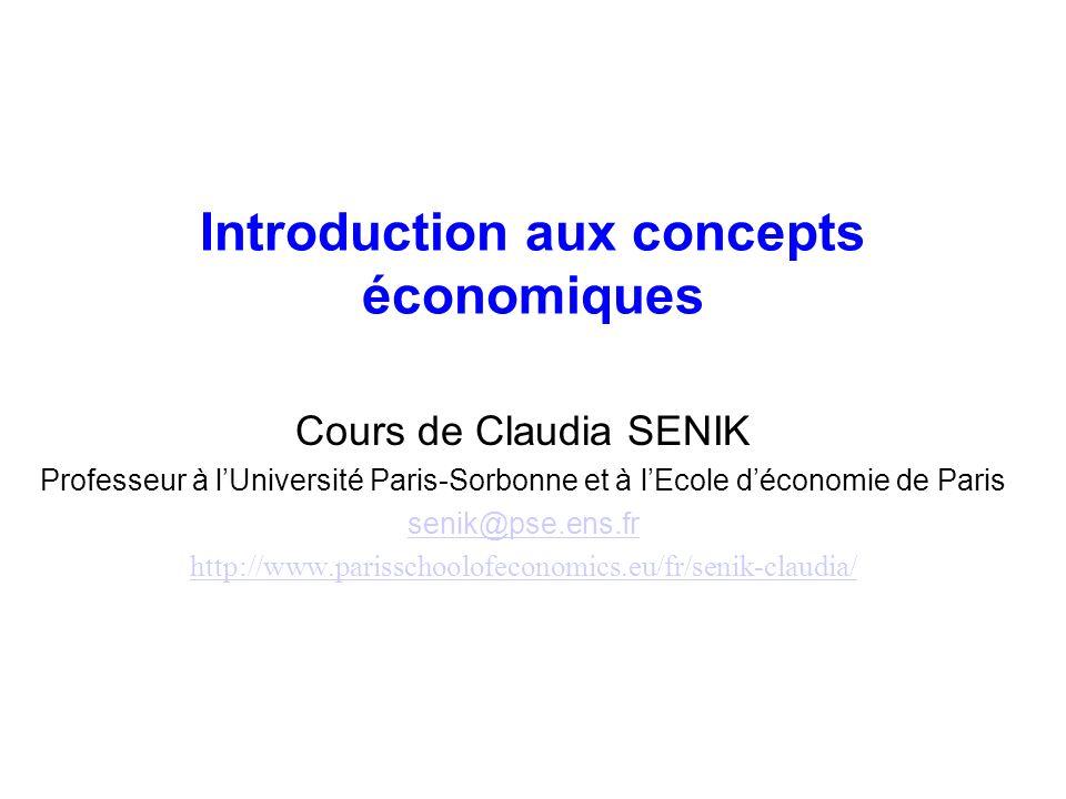 Plan du cours Partie 1 : Objets et méthode de léconomie Partie 2: Les fondements de léconomie : sources et obstacles de la coopération Partie 3: Équilibre concurrentiel, imperfections de marché et intervention de lÉtat Partie 4: Le marché du travail