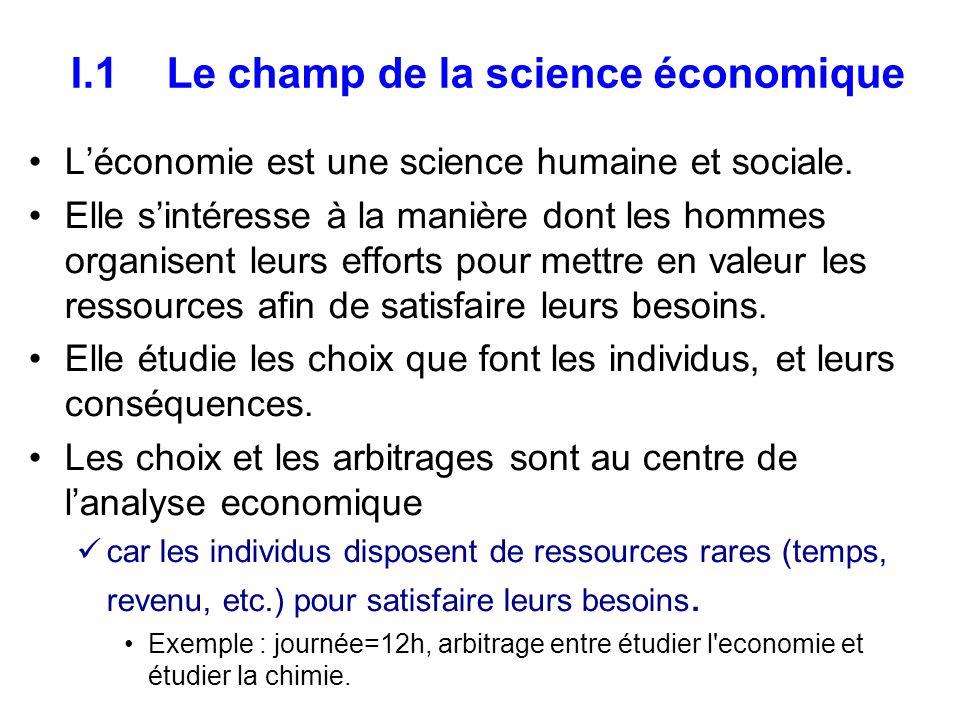 Léconomie analyse le comportement de lhomo-oeconomicus Léconomie étudie les comportements humains non pas comme comme le ferait un sociologue ou un psychologue.