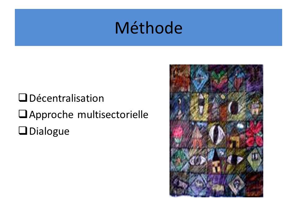 Méthode Décentralisation Approche multisectorielle Dialogue