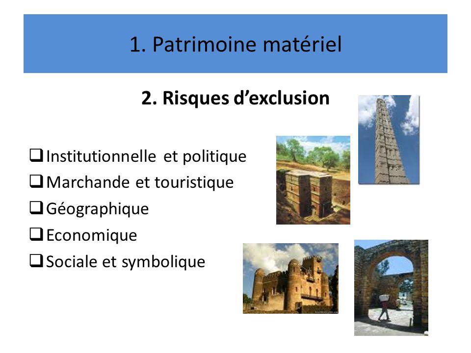 1.Patrimoine matériel 3.