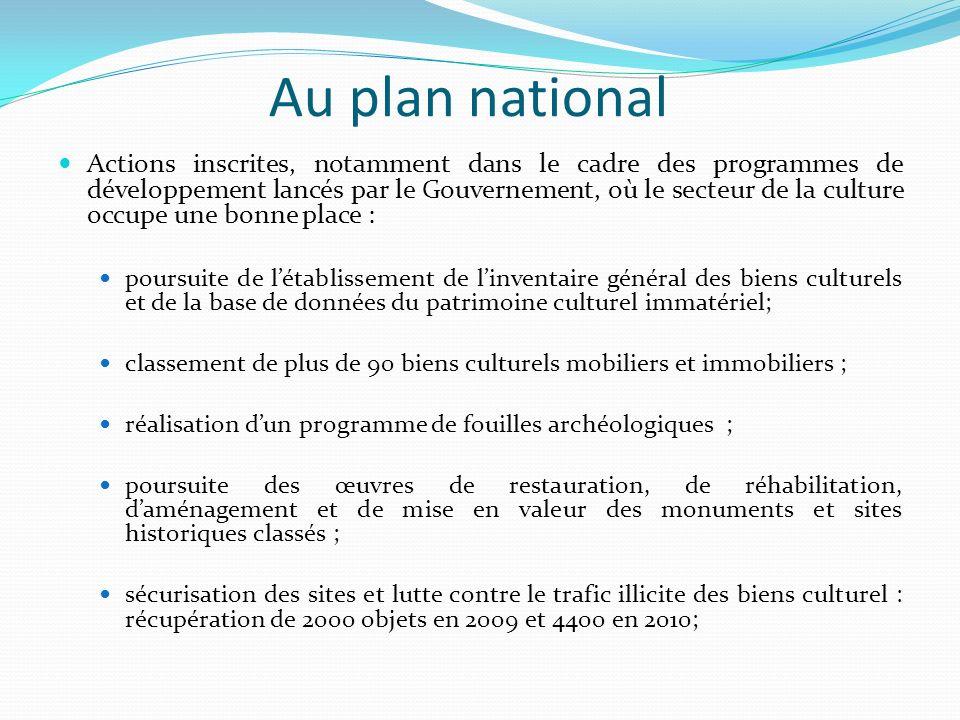 PIN 2011 – 2013 : projet dappui à la protection et à la valorisation du patrimoine culturel.