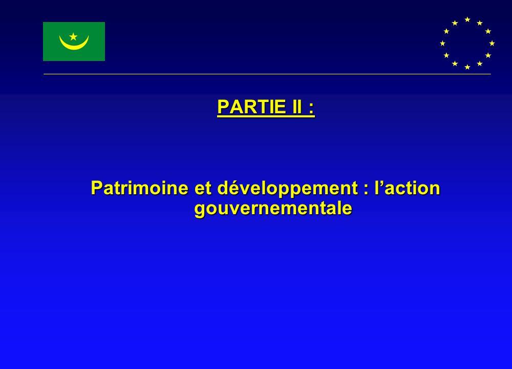 PARTIE II : Patrimoine et développement : laction gouvernementale