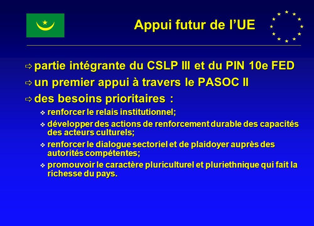 partie intégrante du CSLP III et du PIN 10e FED partie intégrante du CSLP III et du PIN 10e FED un premier appui à travers le PASOC II un premier appu