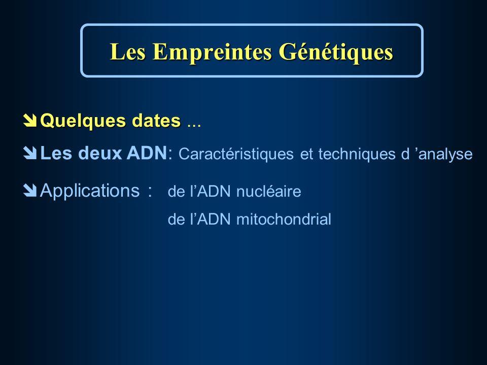 îQuelques dates îQuelques dates...