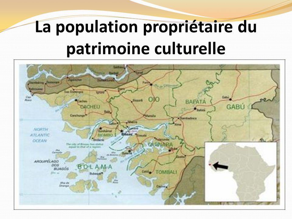 La population propriétaire du patrimoine culturelle