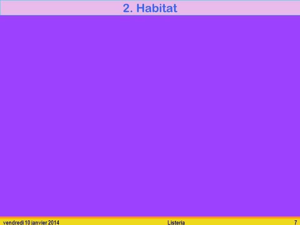 vendredi 10 janvier 2014Listeria7 2. Habitat