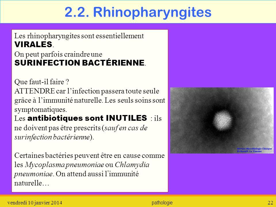 vendredi 10 janvier 2014 pathologie 23 2.3.