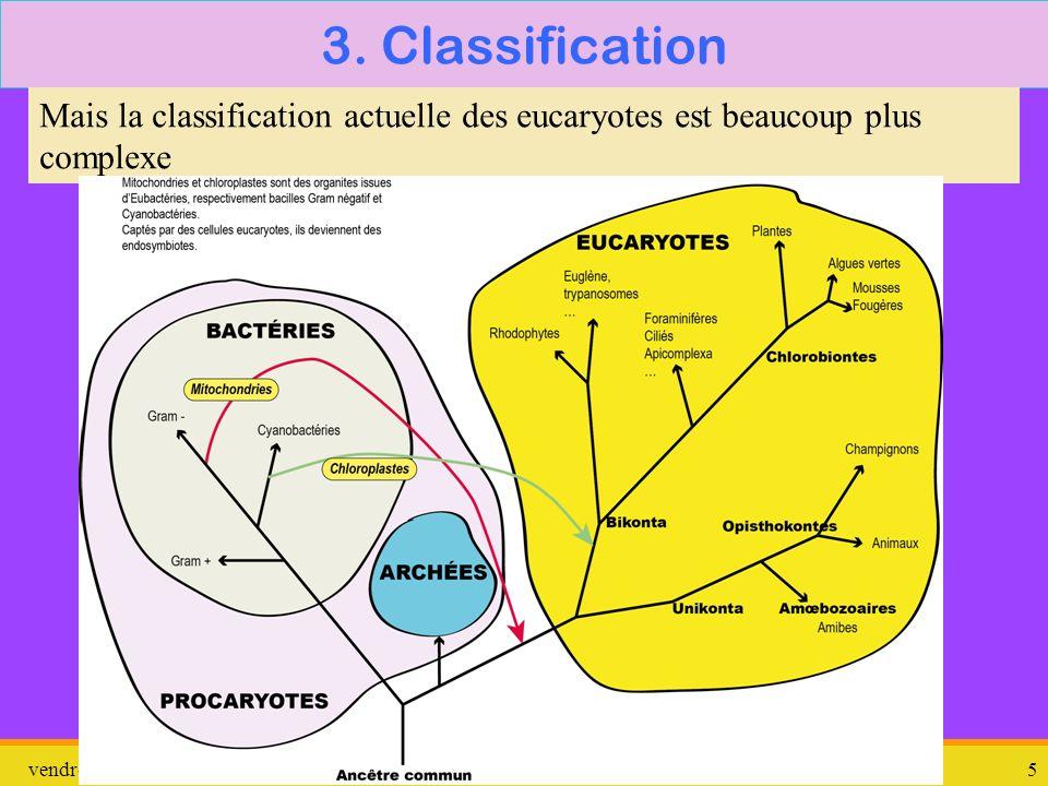vendredi 10 janvier 2014 Amibe dysentérique 5 3. Classification Mais la classification actuelle des eucaryotes est beaucoup plus complexe