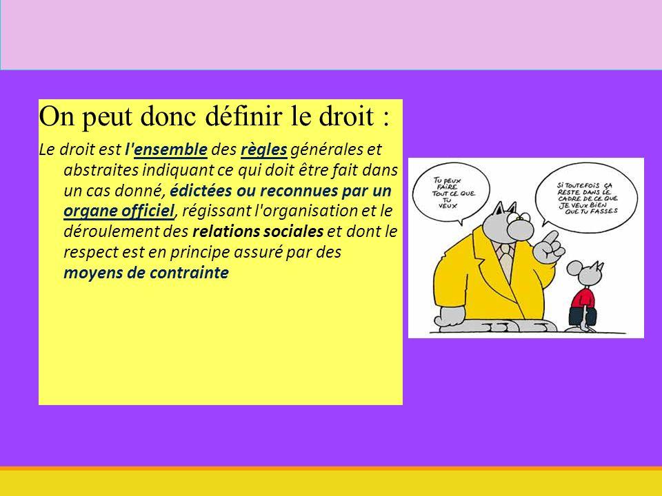 Droit décembre 2008 15 2.Qui produit le droit (en France) .