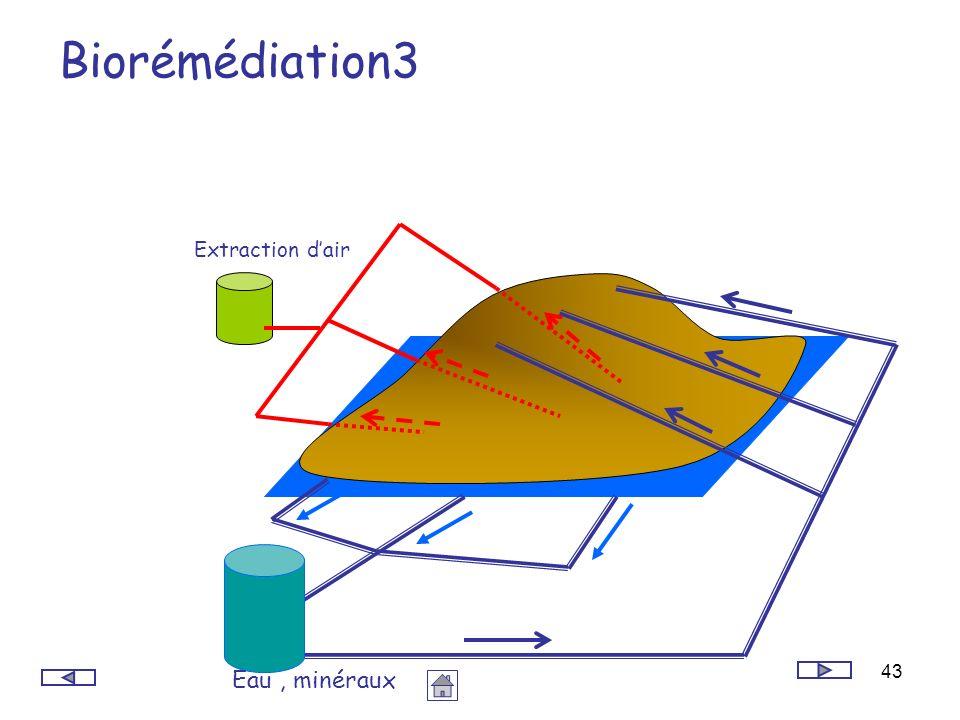 43 Biorémédiation3 Eau, minéraux Extraction dair
