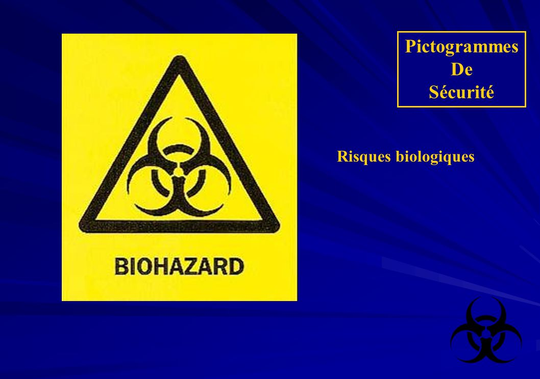 Pictogrammes De Sécurité Risques biologiques