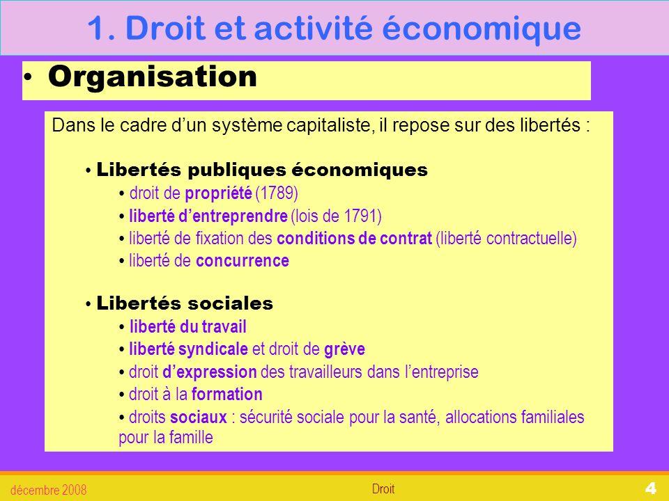 Droit décembre 2008 25 3.La défense des salariés 3.1.