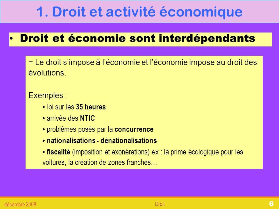 Droit décembre 2008 27 3.La défense des salariés 3.2.