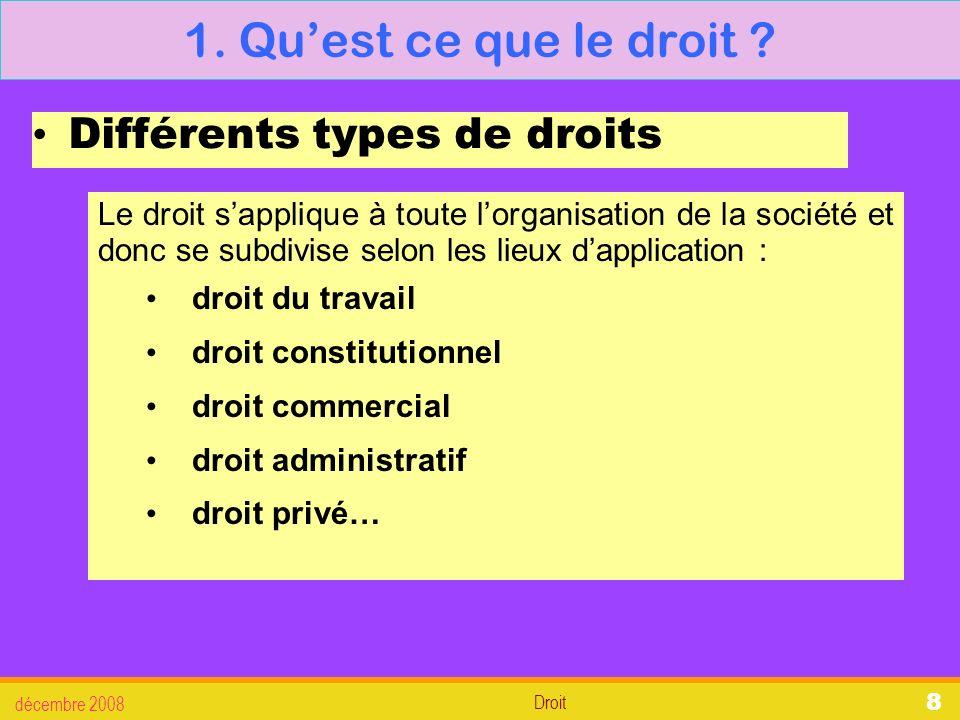 Droit décembre 2008 29 3.La défense des salariés 3.4.