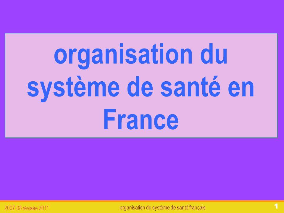 organisation du système de santé français 2007-08 révisée 2011 12