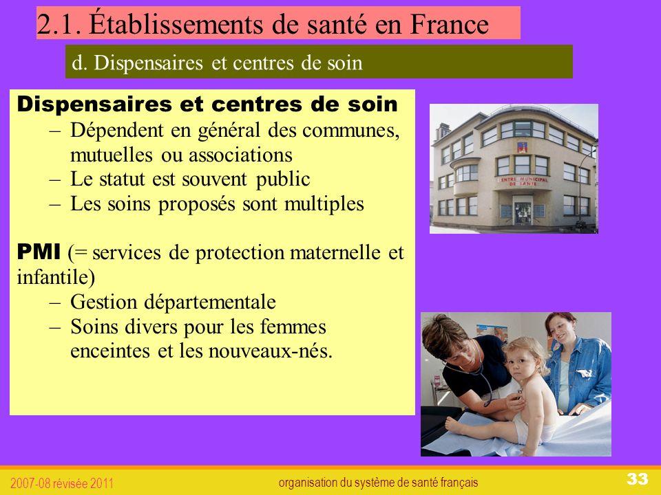 organisation du système de santé français 2007-08 révisée 2011 33 2.1.