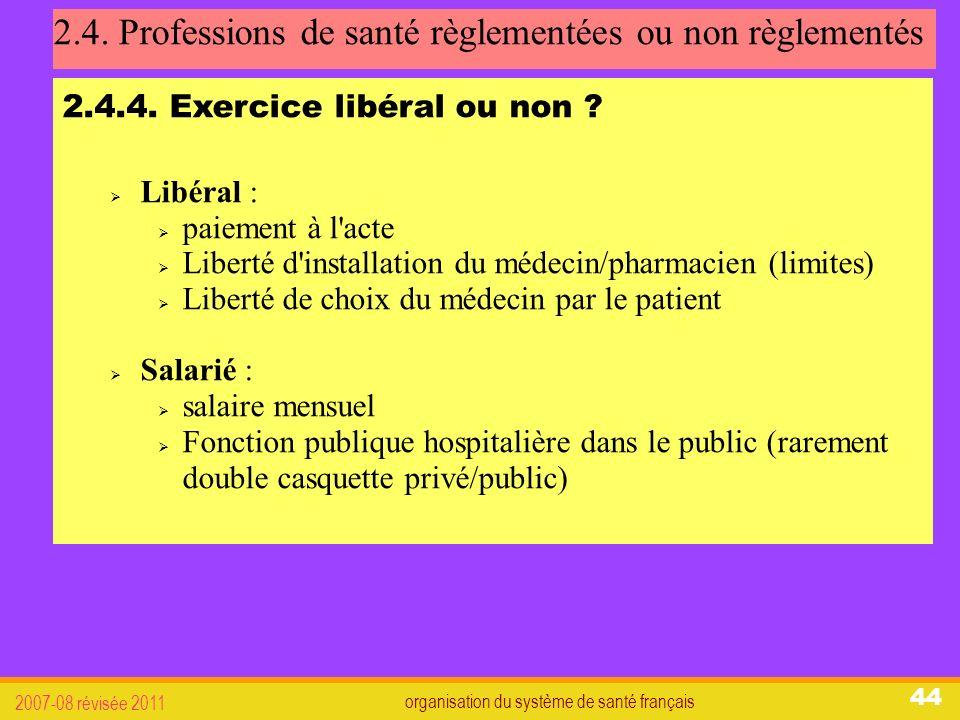 organisation du système de santé français 2007-08 révisée 2011 44 2.4.
