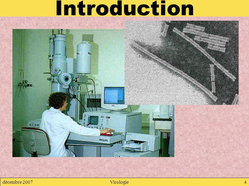 décembre 2007Virologie4 Introduction