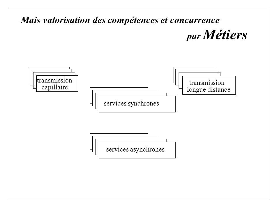 Mais valorisation des compétences et concurrence par Métiers transmission capillaire longue distance transmission services synchrones services asynchrones