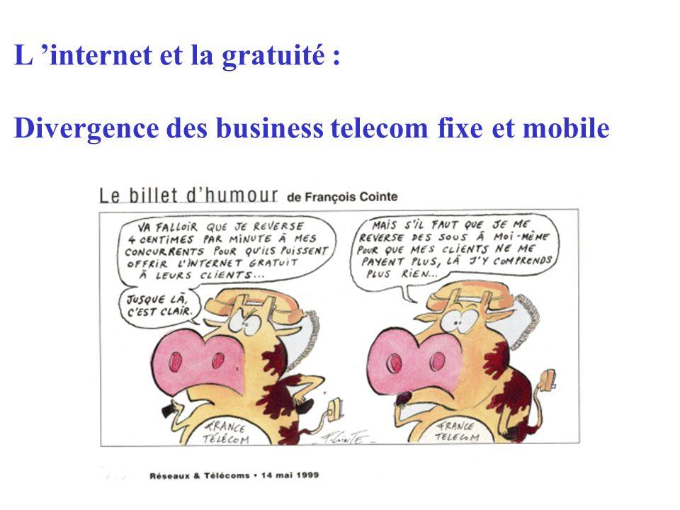 L internet et la gratuité : Divergence des business telecom fixe et mobile