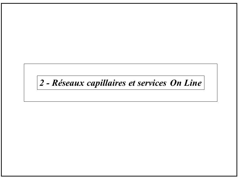 Le capillaire Panorama Technique Terrestre : paire de cuivre==>RTC28.8 kbit/s ==>RNIS64 kbit/s ==>ADSL640 kbit/s / 8Mbit/s ==>HDSL2 Mbit/s câble coaxial==>PC câble 64/700 kbit/s fibre optique==>Batru ==>FTTC, FTTH, ………….
