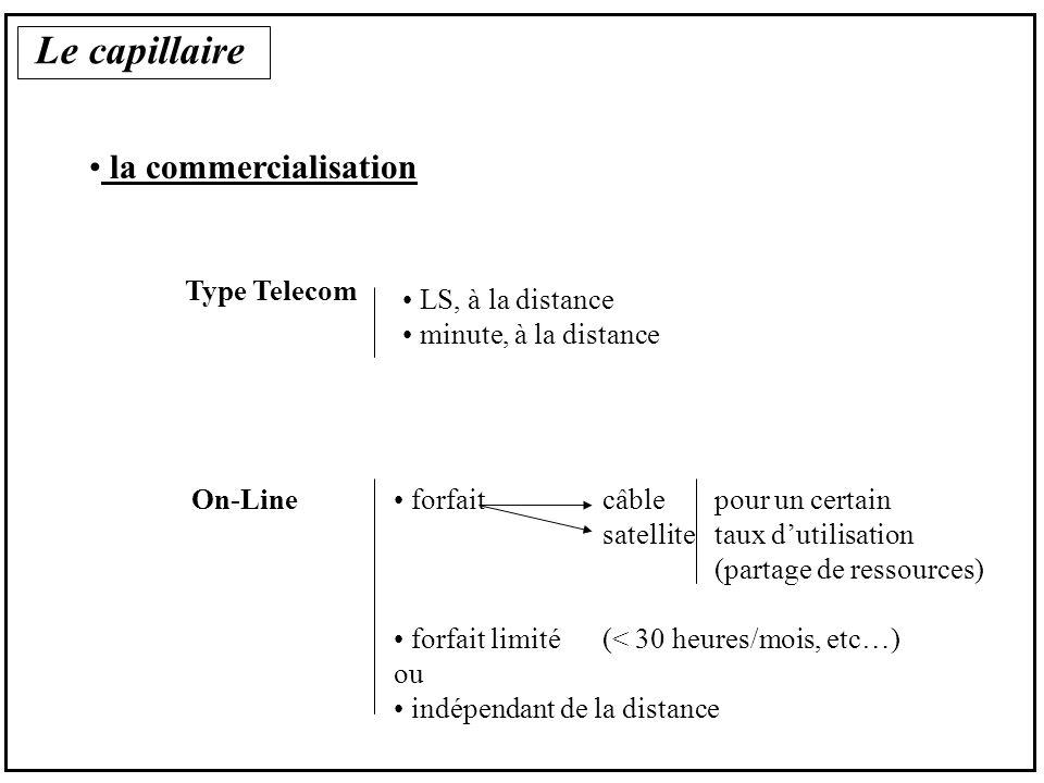 Le capillaire la commercialisation InfraService téléphonique SERVICE téléphonique SERVICE On Line SERVICE contenu Infra capillaire factures de une vente liée à une vente éclatée