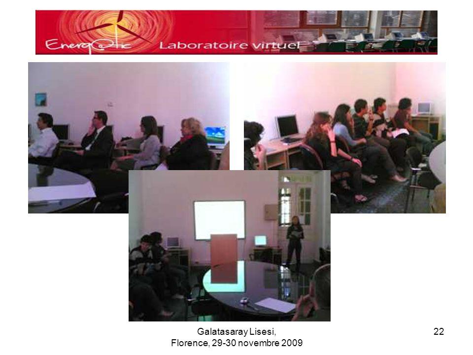 Galatasaray Lisesi, Florence, 29-30 novembre 2009 22
