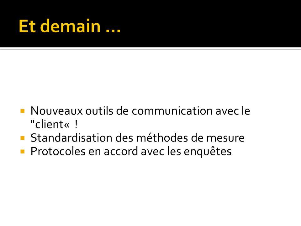 Nouveaux outils de communication avec le client« .